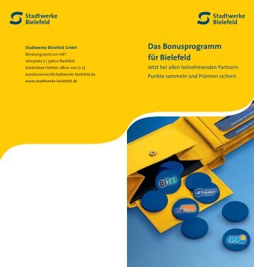 Das Bonusprogramm für Bielefeld - Stadtwerke Bielefeld