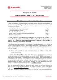 Le juge et les libertés Leïla Derouich – auditrice au ... - Sciences Po