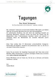 Tagungsmappe 2013 mit AGBs - Hotel Schwanen Metzingen