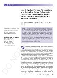 Use of Equine Derived Pericardium as a Biological Cover ... - Wounds