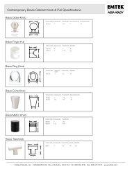 Contemporary Brass Cabinet Knob & Pull Specifications - Emtek