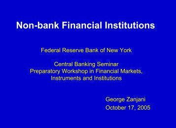 Non-bank Financial Institutions - Federal Reserve Bank of New York