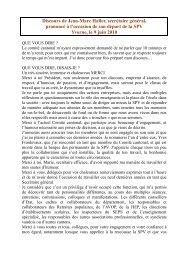 discours de Jean-Marc Haller - Société pédagogique vaudoise