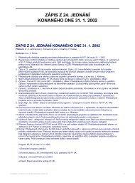 ZÁPIS Z 24. JEDNÁNÍ KONANÉHO DNE 31. 1. 2002