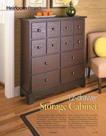 Storage Cabinet - Woodsmith Woodworking Seminars