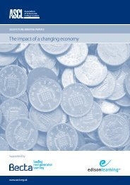 The impact of a changing economy - ASCL