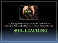 Heather Clark Tier II Soil Leaching Presentation 04-18-12