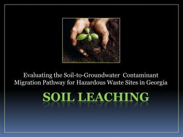 Heather Clark Tier II Soil Leaching Presentation 04-18-12
