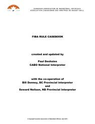 FIBA RULE CASEBOOK created and updated by Paul ... - OABO
