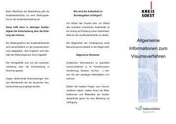 Allgemeine Informationen zum Visaverfahren - Zuhause im Kreis ...