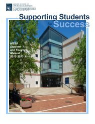 Student Handbook - Mandel School of Applied Social Sciences ...