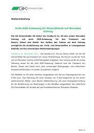 2011-11-17 Medienmitteilung GK Grünenfelder_Auslieferung Gredig