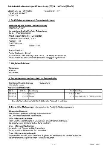 7295766 sicherheitsdatenblatt.pdf - Dentabo.de