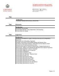 Listado de Convenios Internacionales - Universidad de Salamanca