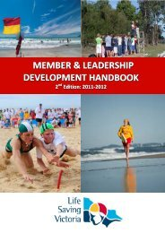 JUNIOR ACTIVITIES INFORMATION BOOKLET - Life Saving Victoria