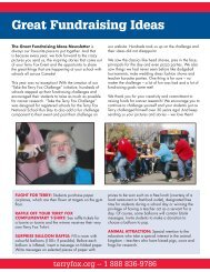 Great Fundraising Ideas - Terry Fox Foundation