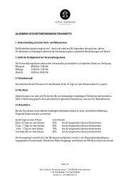 allgemeine geschäftsbedingungen bankette 2012 - Balance Hotels