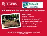 Rain Garden Site Selection and Installation - Rutgers Cooperative ...