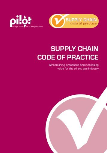 SUPPLY CHAIN CODE OF PRACTICE - Oil & Gas UK