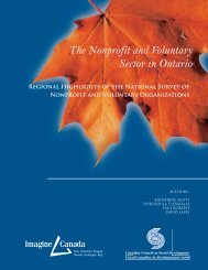 The Nonprofit and Voluntary Sector in Ontario - Canadian Council ...
