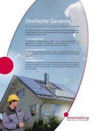 für den optimalen Betrieb Ihrer Solarstromanlage - Energetica
