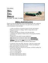 FOLDING MIN-TILL DRILLS - Great Plains Manufacturing
