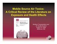 MSAT Review: Exposure & Health Effects - MARAMA