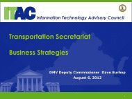 Business Strategies - the Virginia Information Technologies Agency