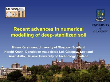 Recent advances in numerical modelling of deep-stabilized ... - Starnet