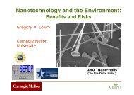 Nanotechnology and the Environment: - ATV Jord og Grundvand
