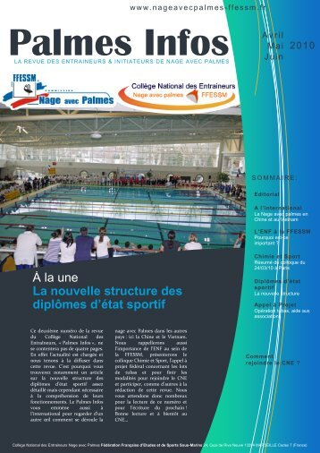Palmes Infos n°2 (Avril 2010) - Commission Nationale Nage Avec ...