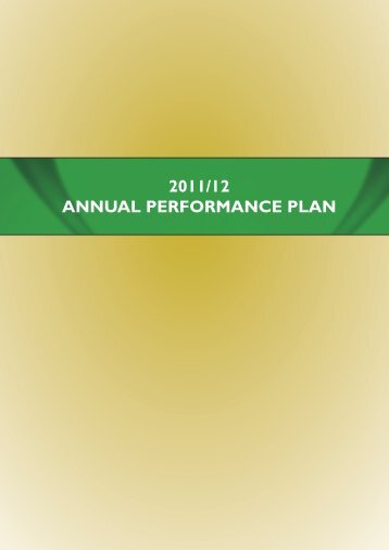 Annual Performance Plan 2011/2012 - Department of Agriculture ...