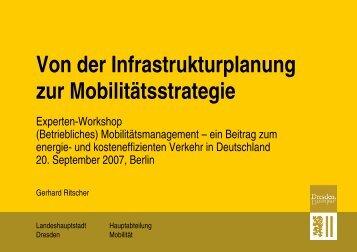Von der Infrastrukturplanung zur Mobilitätsstrategie - Clever Pendeln