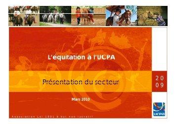 L'é it ti à L'équitation à Présentation d à l'UCPA du ... - Atout France