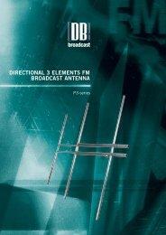 directional 3 elements fm broadcast antenna - DB Broadcast