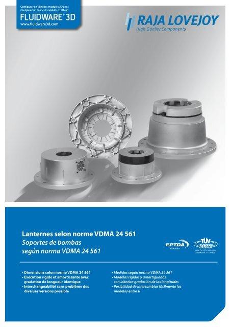 Lanternes selon norme VDMA 24 561 Soportes de ... - RAJA-Lovejoy