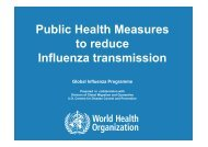 Public Health Measures to reduce Influenza transmission