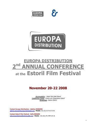 2 ANNUAL CONFERENCE at the Estoril Film Festival - Europa ...