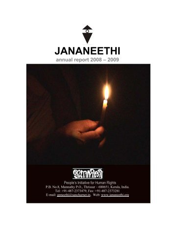 JANANEETHI annual report 2008 – 2009