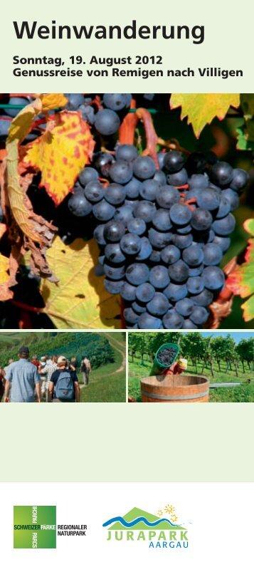 Weinwanderung Jurapark Aargau - PostBus