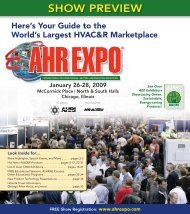 Show PREviEw - AHR Expo