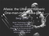 Afasia: the Ultimate Homeric One-man-multimedia-band - DTIC
