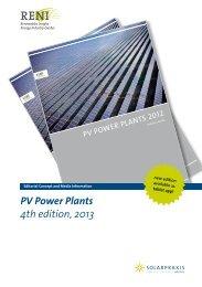 PV Power Plants 4th edition, 2013 - Renewables Insight