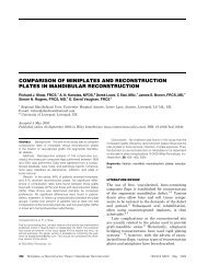 Comparison of miniplates and reconstruction plates ... - ResearchGate
