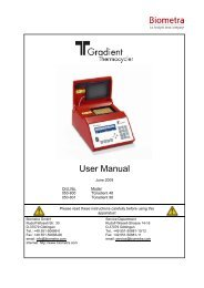 User Manual - Biometra