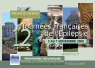 Journées Françaises de l'Epilepsie Journées Françaises de l ... - Lice