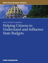 Helping Citizens to Understand and Influence ... - Ford Foundation