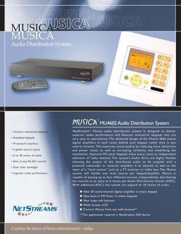 MU4602 Musica Datasheet - ClearOne