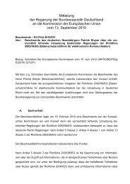 Mitteilung der Regierung der Bundesrepublik Deutschland an die ...