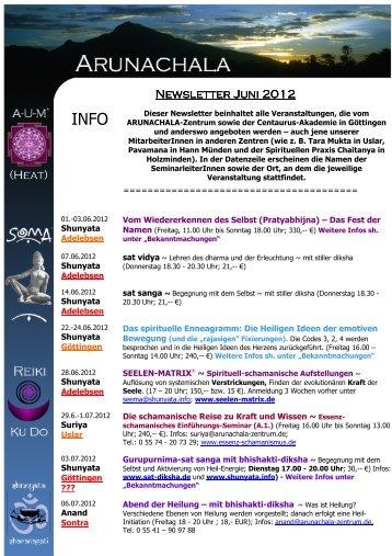 Arunachala - Newsletter Juni 2012 - SOMA-Work.de
